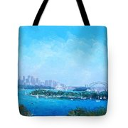 Sydney Harbour And The Opera House Cityscape View Tote Bag