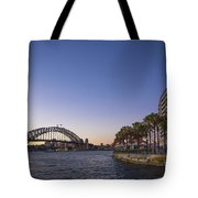 Sydney Harbour In Australia By Night Tote Bag