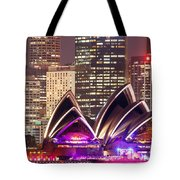 Sydney Skyline At Night With Opera House - Australia Tote Bag