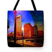 Tampa History In Reflection Tote Bag