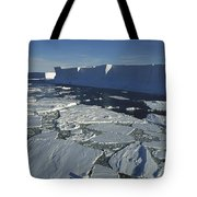 Tabular Iceberg With Broken Fast Ice Tote Bag