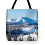 Taiga Winter Snow Landscape Yukon Territory Canada Tote Bag