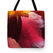 Tall Bearded Iris Named Ancient Echoes Tote Bag