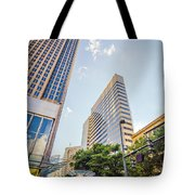 Tall Highrise Buildings In Uptown Charlotte Near Blumenthal Perf Tote Bag