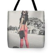 Tall Young Black Woman Modelling Handbag Accessory Tote Bag
