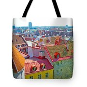 Tallinn From Plaza In Upper Old Town-estonia Tote Bag