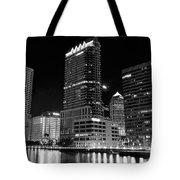 Tampa Black And White  Tote Bag