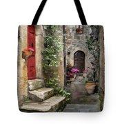 Tarquinia Red Door Impasto Tote Bag