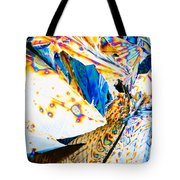 Tartaric Acid Crystals In Polarized Light Tote Bag