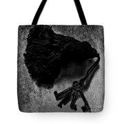 Tassled Vintage Skeleton Keys Tote Bag