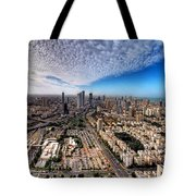 Tel Aviv Skyline Tote Bag