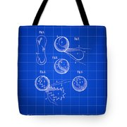 Tennis Ball Patent 1914 - Blue Tote Bag