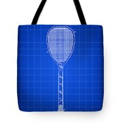 Tennis Racket Patent 1887 - Blue Tote Bag