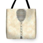 Tennis Racket Patent 1887 - Vintage Tote Bag