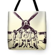 Test Pilots With P-47 Thunderbolt Fighter Tote Bag