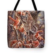 The 5th Division Storming By Escalade Tote Bag