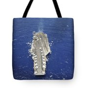 The Aircraft Carrier Uss Nimitz Tote Bag
