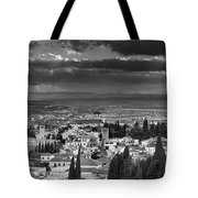 The Alhambra And Albaycin In Granada Tote Bag