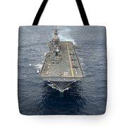 The Amphibious Assault Ship Uss Essex Tote Bag