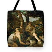 Adam And Eve After The Expulsion From Paradise Tote Bag