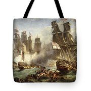 The Battle Of Trafalgar Tote Bag