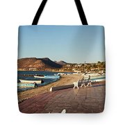 The Beachside Strolling Malecon Tote Bag
