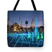 The Blue Mosque Tote Bag