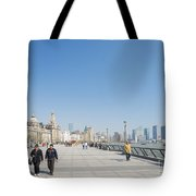 The Bund In Shanghai China Tote Bag