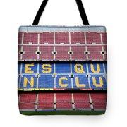 The Camp Nou Stadium In Barcelona Tote Bag