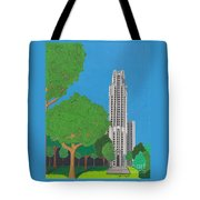 The Cathedral Of Learning Tote Bag by John Wiegand