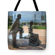 The Catherine And Milton Hershey Statue Tote Bag