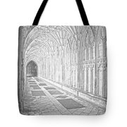 The Cloister In Gloucester Cathedral Tote Bag