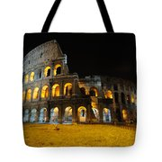 The Colosseum At Night Tote Bag