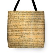 The Constitution, 1787 Tote Bag