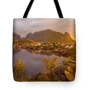 The Day Begins In Reine Tote Bag