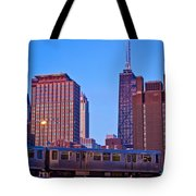 The El In Chicago  Tote Bag