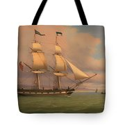 The English Brig Norval Before The Wind Tote Bag
