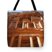 The Facade Of Al Khazneh In Petra Jordan Tote Bag by Robert Preston