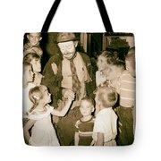 The Famous Clown Emmett Kelly 1956 Tote Bag