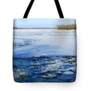 The Frozen Dnieper River Tote Bag