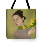 The Golden Kiss Of Spring Tote Bag