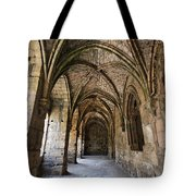 The Gothic Cloisters Inside The Crusader Castle Of Krak Des Chevaliers Syria Tote Bag