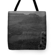 The Grand Canyon In Black And White Tote Bag