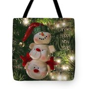 The Happy Snowman Tote Bag