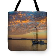 The Harbor At Sunrise Tote Bag