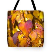 The Heart Of Fall Tote Bag