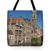 The Historic Center Of Bruges Tote Bag