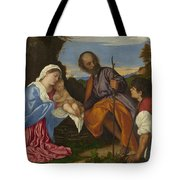 The Holy Family With A Shepherd Tote Bag
