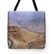 The King's Highway At Wadi Mujib Jordan Tote Bag by Robert Preston
