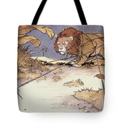 The Lion And The Mouse Tote Bag